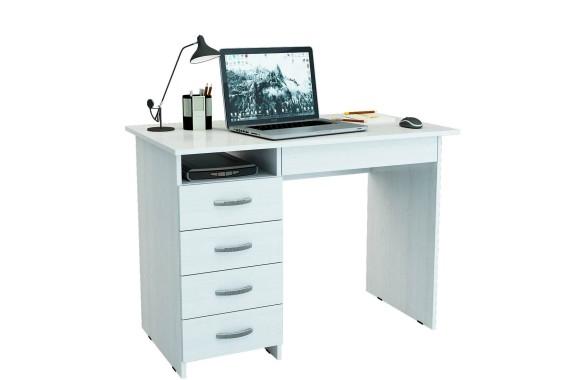 Стол компьютерный письменный Милан-1 (0120) белый
