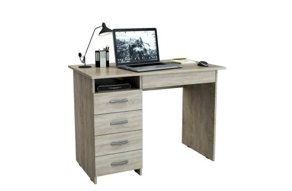 Компьютерный стол письменный Милан-1 (0120) дуб сонома