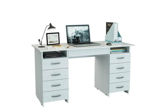 Стол компьютерный письменный Милан-10Я (0120) белый