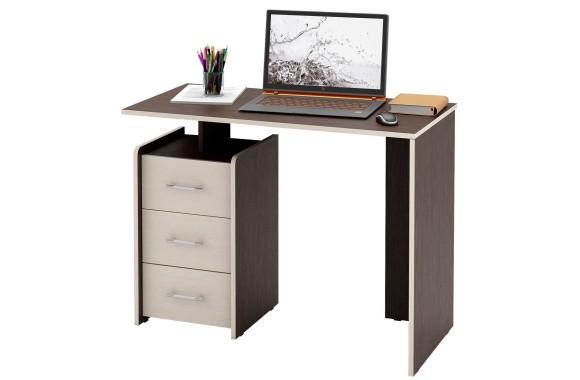 Стол компьютерный письменный Слим-1 венге / дуб молочный